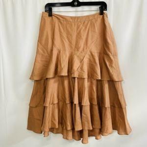 Gap 100% Silk 3 Tier Ruffle Skirt Womens Size 6